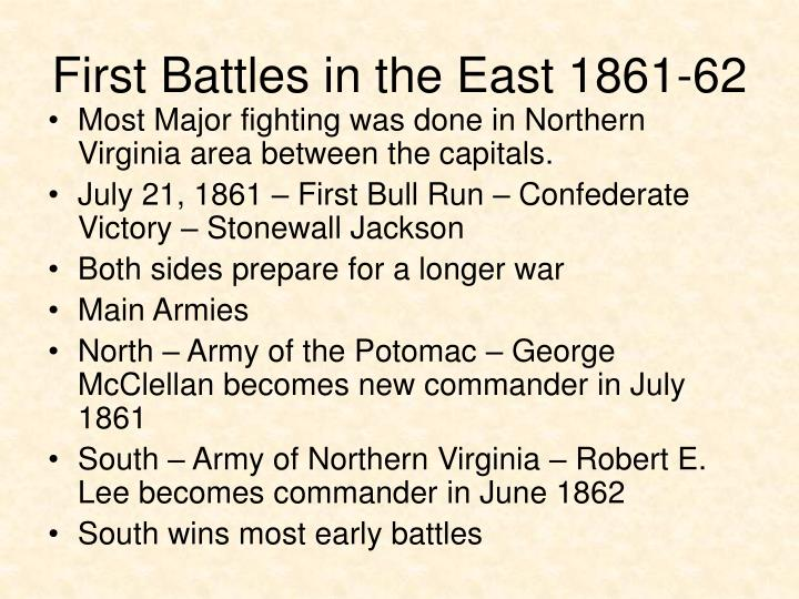 First Battles in the East 1861-62