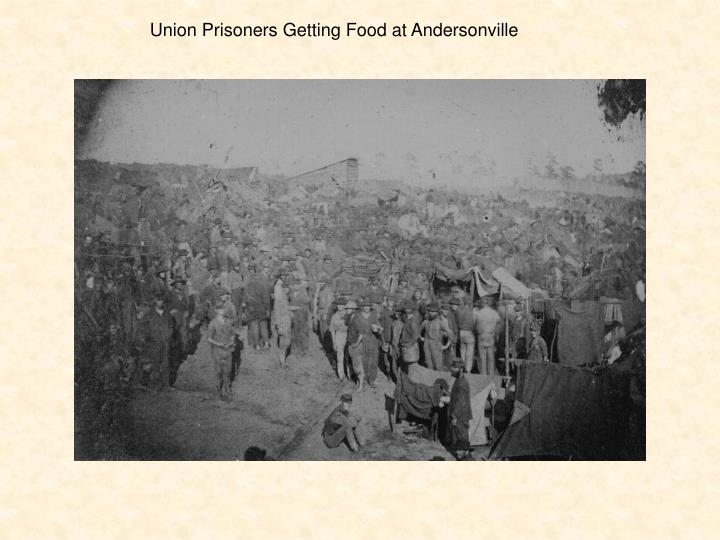 Union Prisoners Getting Food at Andersonville
