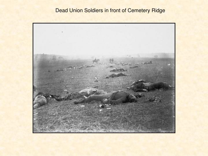 Dead Union Soldiers in front of Cemetery Ridge