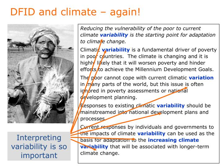 DFID and climate – again!