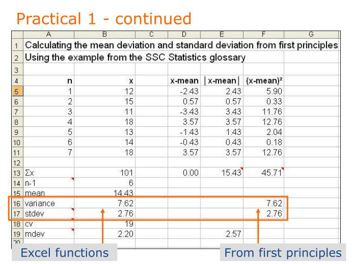 Practical 1 - continued
