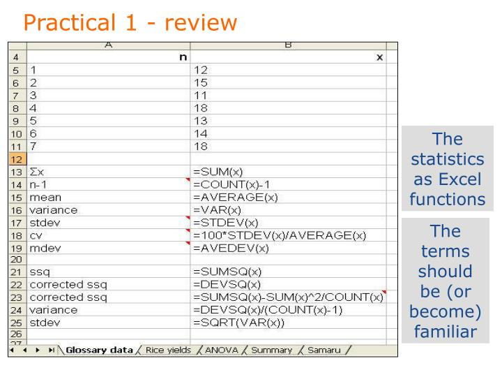 Practical 1 - review