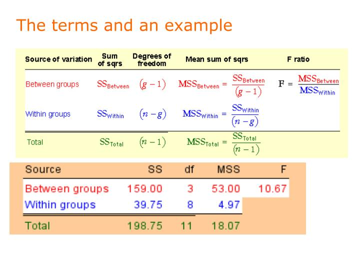 The terms and an example