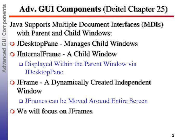 Adv gui components deitel chapter 25