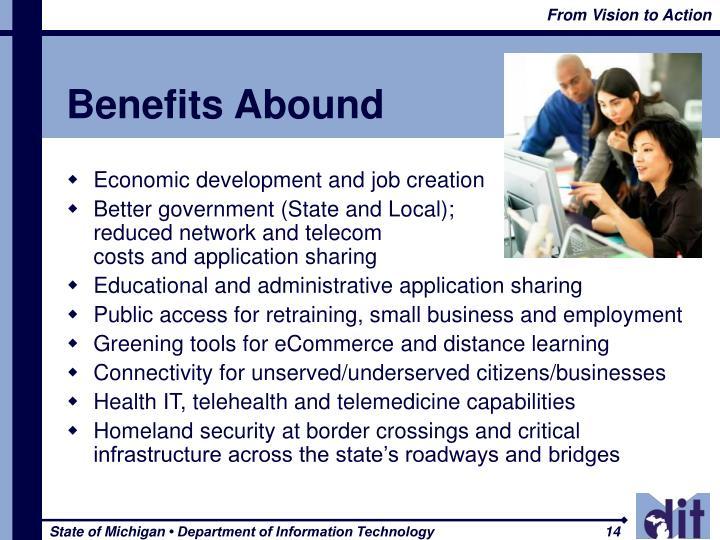 Benefits Abound