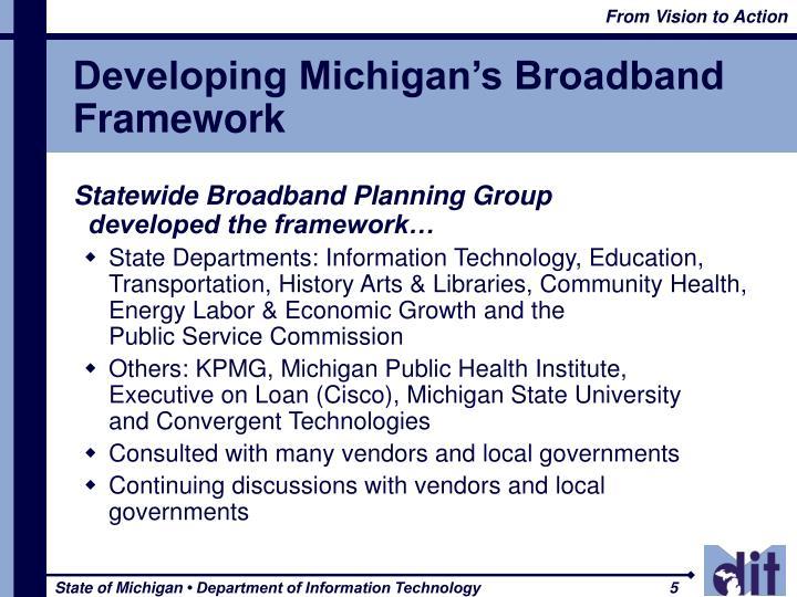 Developing Michigan's Broadband Framework