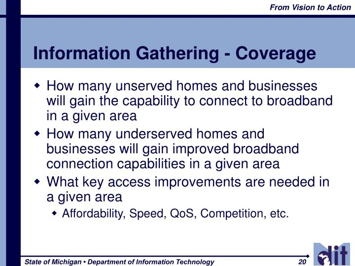 Information Gathering - Coverage