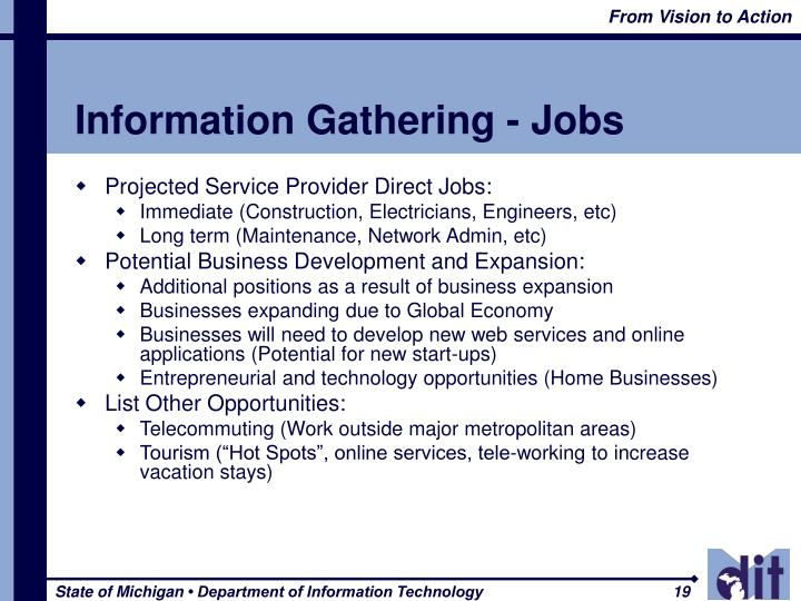 Information Gathering - Jobs