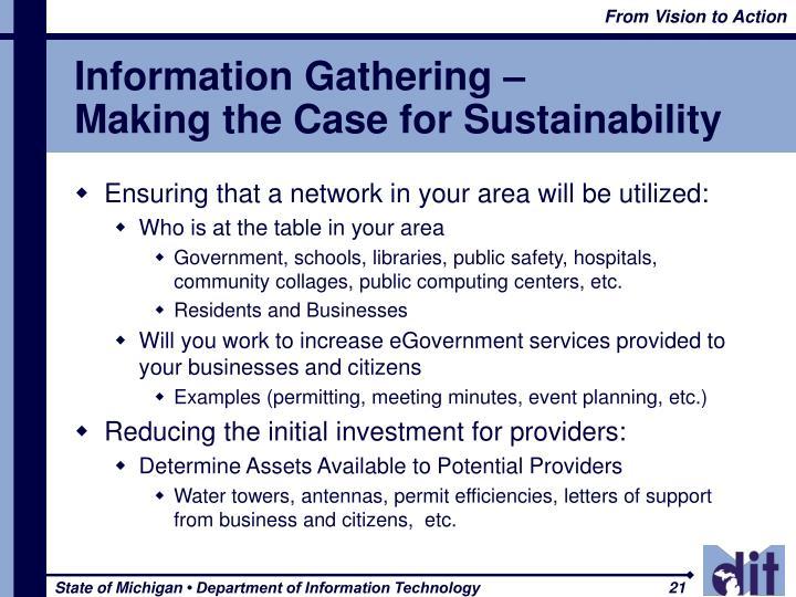 Information Gathering –