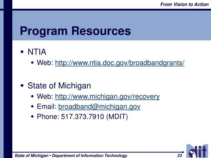Program Resources