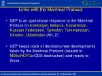 links with the montreal protocol