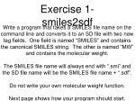 exercise 1 smiles2sdf