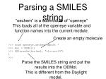 parsing a smiles string