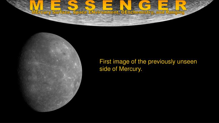 First image of the previously unseen side of Mercury.