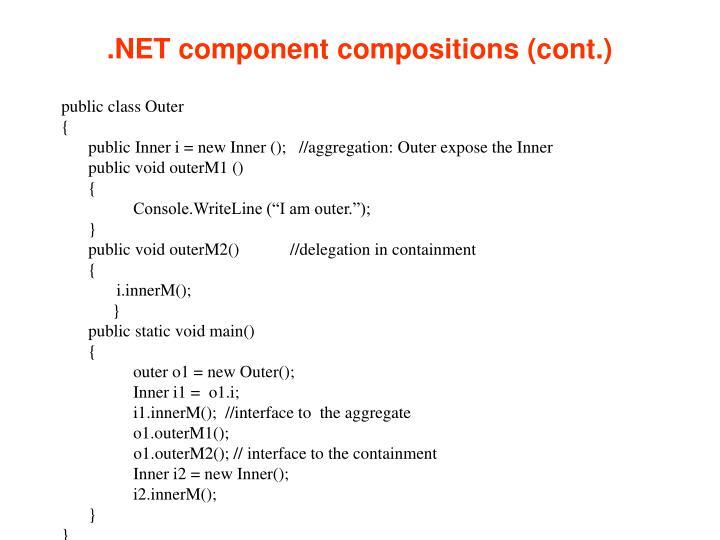 .NET component compositions (cont.)