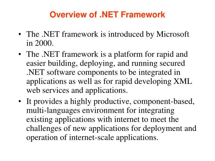 Overview of net framework