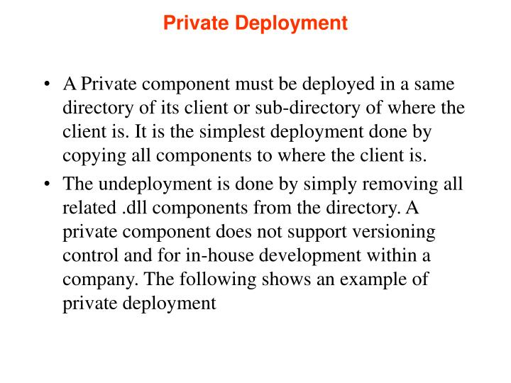 Private Deployment