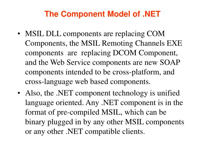 The Component Model of .NET