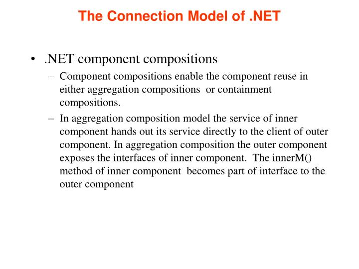 The Connection Model of .NET