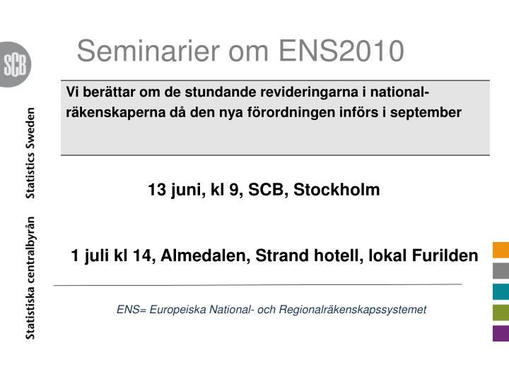 Seminarier om ENS2010