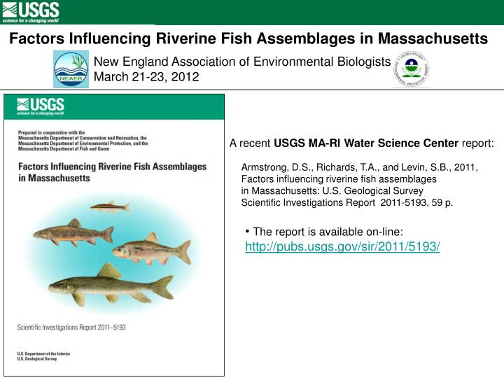 Factors Influencing Riverine Fish Assemblages in Massachusetts