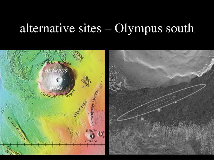 alternative sites – Olympus south