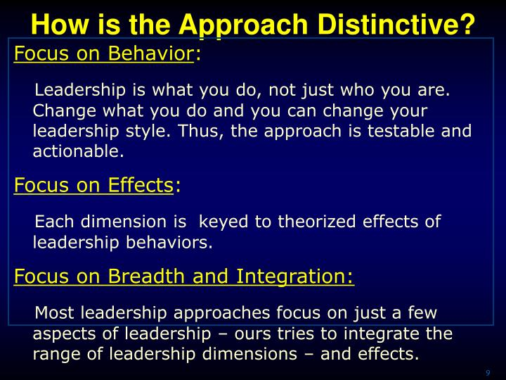 How is the Approach Distinctive?