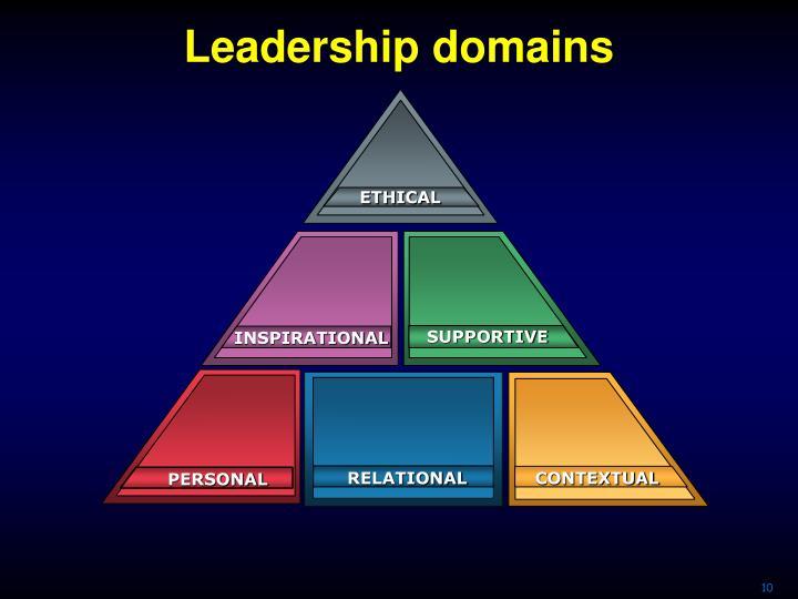 Leadership domains
