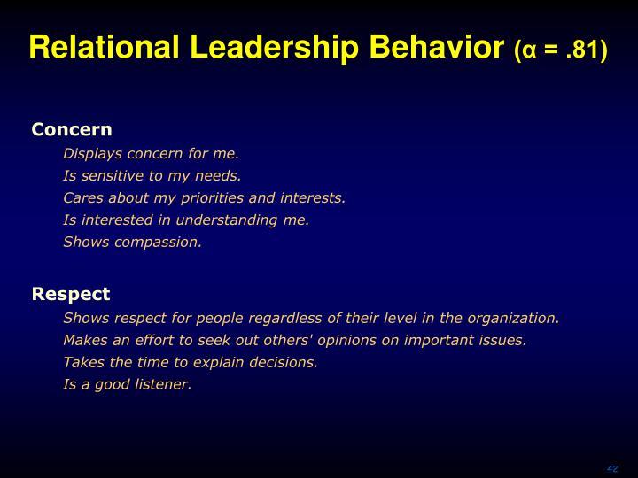 Relational Leadership Behavior