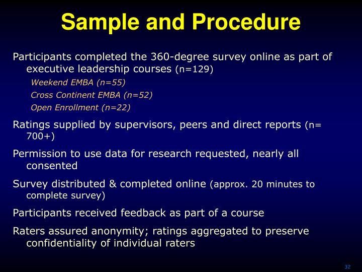 Sample and Procedure