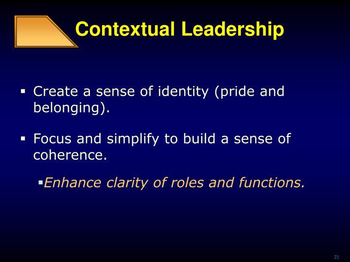 Contextual Leadership