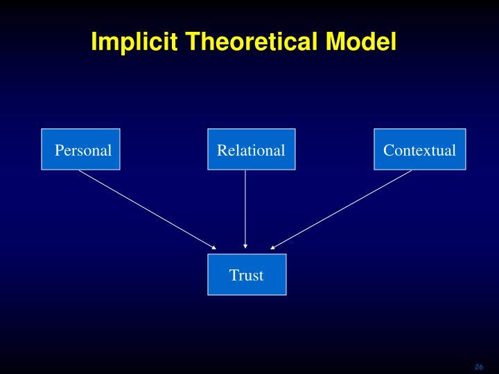 Implicit Theoretical Model