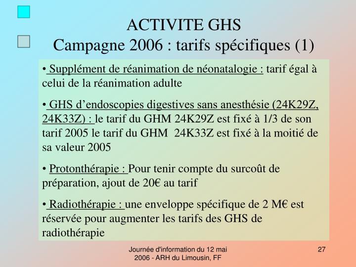 ACTIVITE GHS