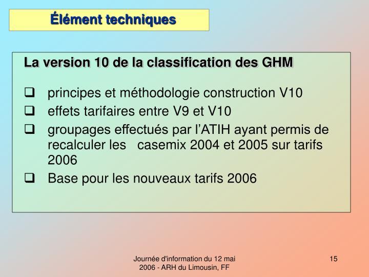 La version 10 de la classification des GHM