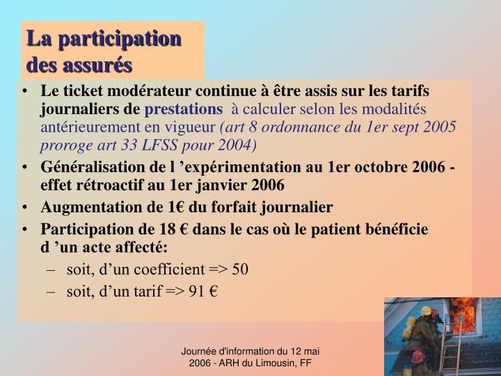La participation des assurés