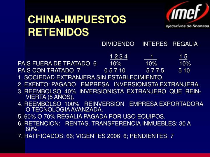 CHINA-IMPUESTOS RETENIDOS