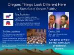 oregon things look different here a snapshot of oregon politics