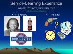 service learning experience jackie winters for congress http www jackiewinters com