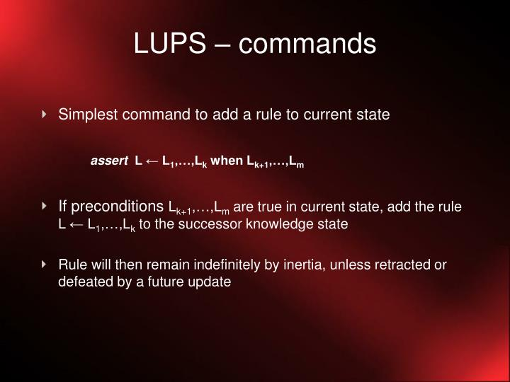 LUPS – commands