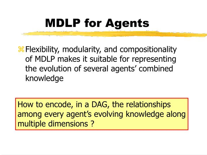 MDLP for Agents