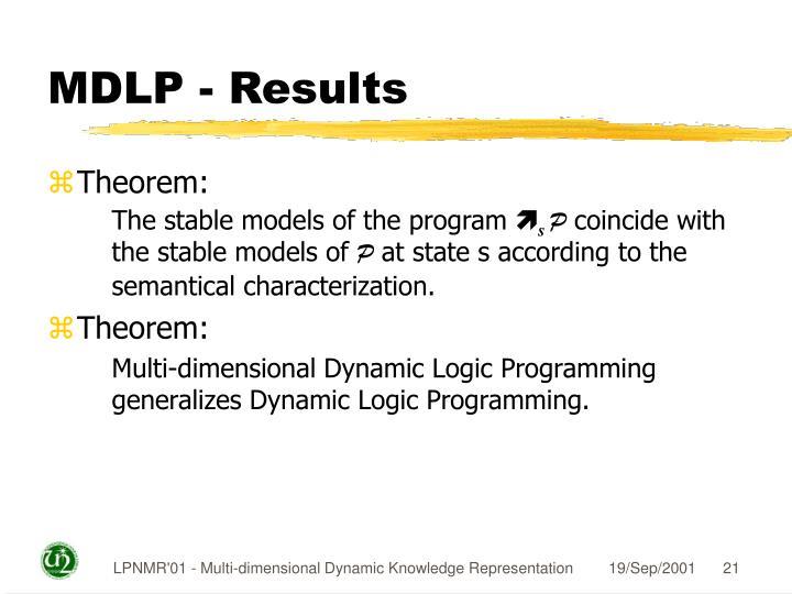 MDLP - Results
