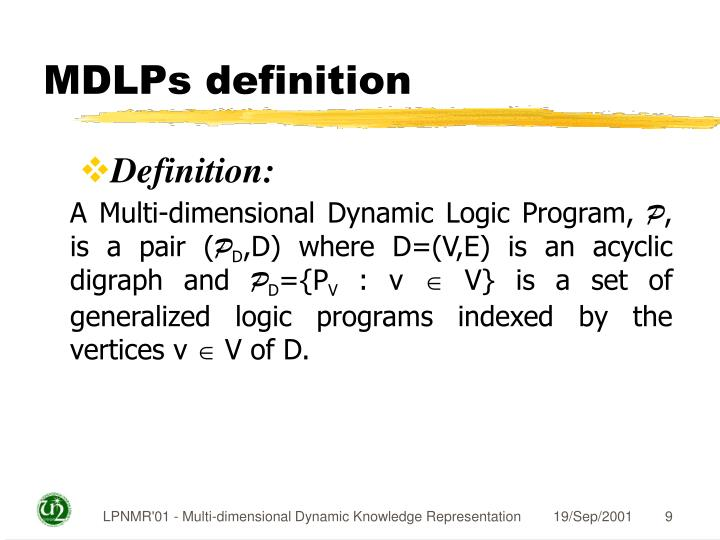 MDLPs definition