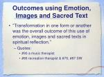 outcomes using emotion images and sacred text