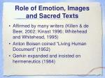 role of emotion images and sacred texts