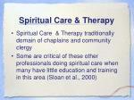 spiritual care therapy