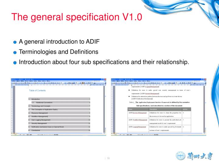 A general introduction to ADIF