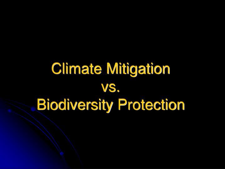 Climate Mitigation