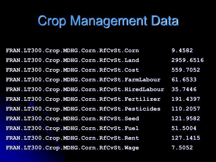Crop Management Data