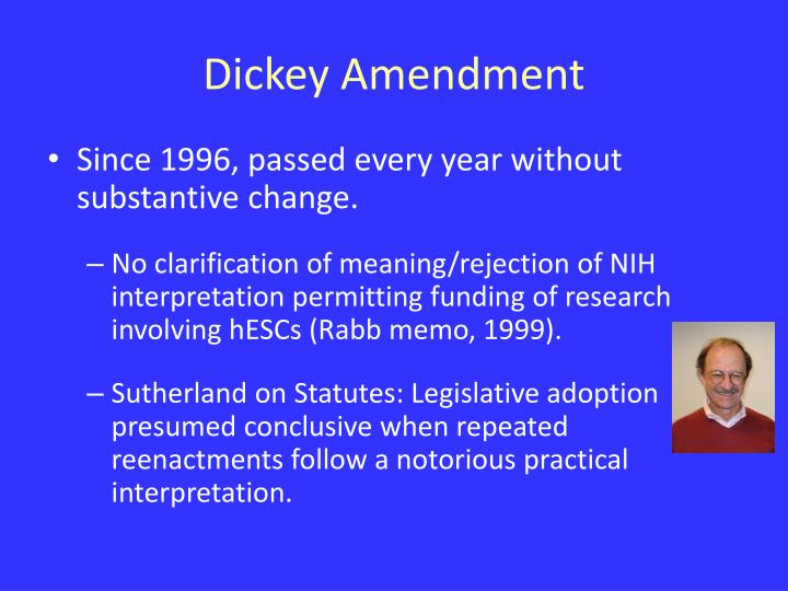 Dickey Amendment