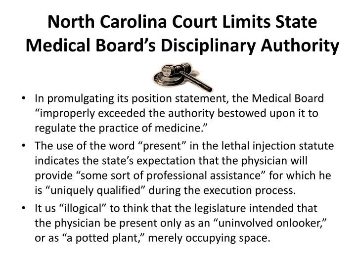 North Carolina Court Limits State Medical Board's Disciplinary Authority